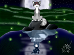 The Night Wolf Lake by UkyoLovest