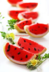 Watermelon Sorbet with Chocolate Chips by theresahelmer