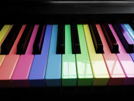Rainbow piano by JLee182