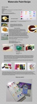 Watercolor paint recipe and tutorial, part 1 by EruwaedhielElleth