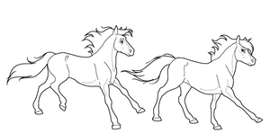 Follow horse lineart PNG by kokamo77