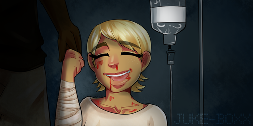 The Girl With the Bloody Smile by juke-boxx