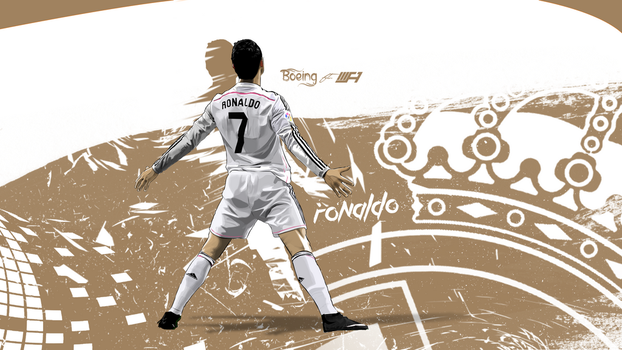Cristiano Ronaldo Vector Wallpaper by SemihAydogdu
