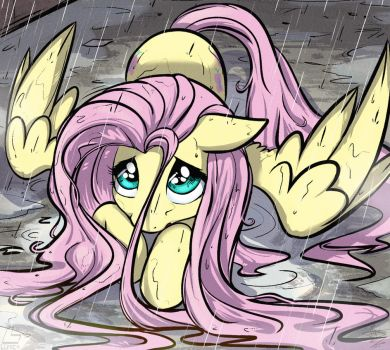 Fluttershy cutest stare. by FidzFox