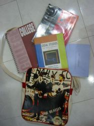 college bag.college books by anyonebutyou