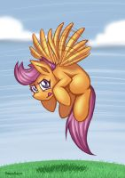 Buzzing Scootaloo by RomanRazor