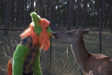 [ FURSUIT ] Lime and the Deer by Marchef-Iustinianie