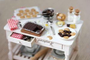 Miniature Baking Day Table by PetitPlat