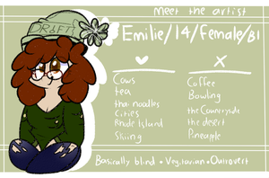 //Meet the Artist// by OliveCow