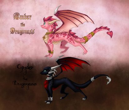 Ember and Cynder - Species by ThisCrispyKat