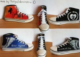 My Rise Against shoes by TheAgeOfInformation