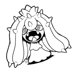 Mareanie free to use lineart! by Scuterr