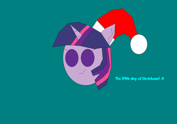 MLP - Twilight Sparkle wishes you a Happy Holidays by worldofcaitlyn