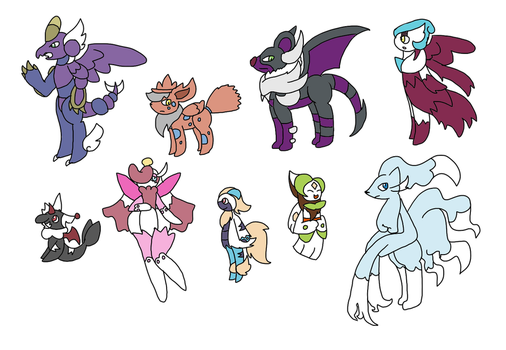 Smexy Pokemon Fusions Adopts CLOSED by anntheazelf101