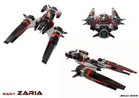 Zaria starfighter by Scharnvirk