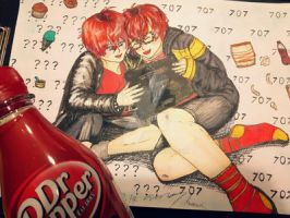??? and 707 as Kids by MeinIch