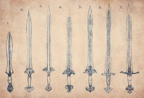 Elven Sword Evolution by Merlkir