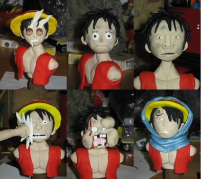 Faces of Luffy by Awasai