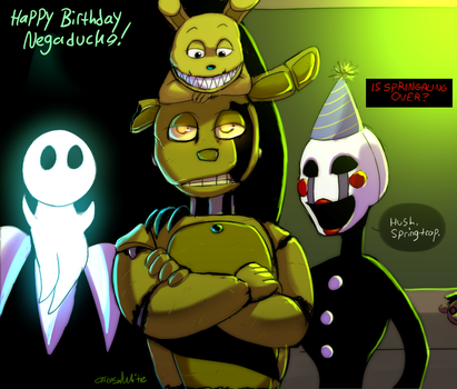 FNAF - Why Are Birthdays Good For You? by Atlas-White