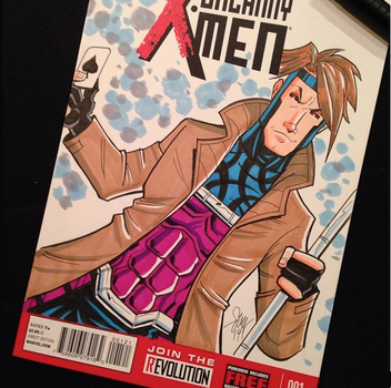 Gambit Sketch Cover Commission by calslayton