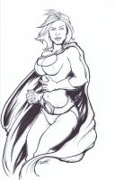 Power Girl: Inks by BankyOne
