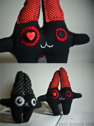 Plush Demon Bunnies by uvita