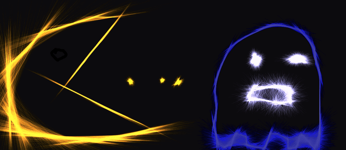 Neon Pacman by lalalalakellinisepic