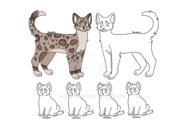 Cat Breedable - Closed - 5 point kittens by Mae-Adopts