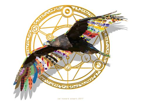 Decorative Golden Poly Eagle by AVAdesign