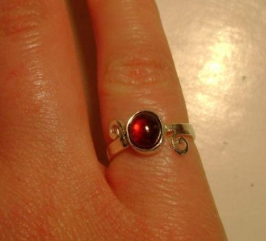 Metal Work: Garnet Ring by abbey1normal