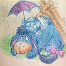 Eeyore meets Sadness (Inside Out/Winnie the Pooh) by LorenzoMendoza