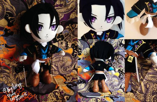 Toshizo Hijikata Custom Made Plushie by sewcuteplushies
