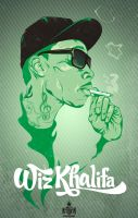 Wiz Khalifa up in smoke by Bokula