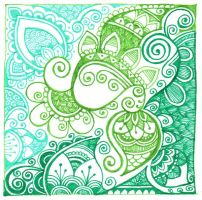 Swirls in green and blue by yael360