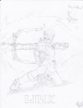 Link from the Legend of Zelda (Pencil) by AplG7
