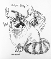 W is for Wolpertinger by inkstoryrebel
