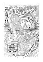 Spidey Vs. The Vulture INKED by angryrooster
