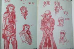 Critical Role Sketches by StellaWSteel