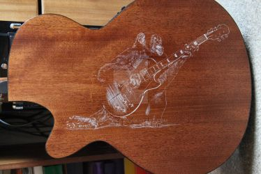 Guitar Chimp - Hand Engraving by Ange1ica