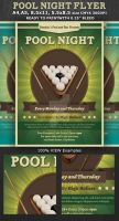 Pool Night Flyer Template by Hotpindesigns