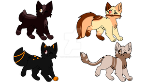 Warrior cat adopts (closed) by Redpandaseas
