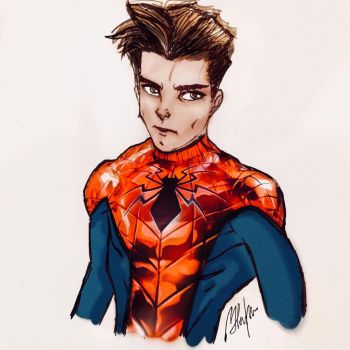 Unmasked Spider-Man  by eboarafat