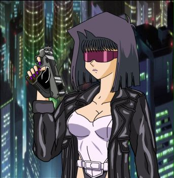 Tea - as Motoko with gun .1 by Duel-Monsters