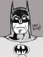 Batman in Black and White by LeevanCleefIII