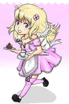 Pink Petal Maid by Punk-Bunny-Cha