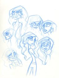 SBFF Wonder Girl face studies by fyre-flye