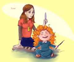 Penny + Merida Age Swapping by Hilups
