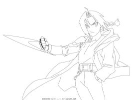 Edward Elric Lineart by synyster-gates-A7X