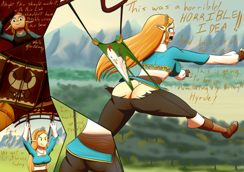 Zelda wedgie by the-killer-wc