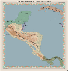 The Federal Republic of Central America (1825) by Xotaed